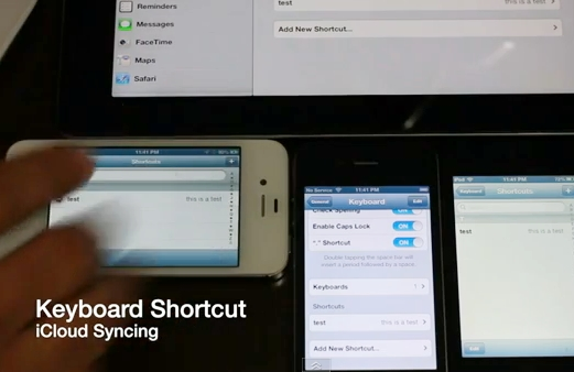 How to Sync Keyboard Shortcuts with iCloud in iOS 6